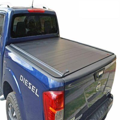 Cubierta en Aluminio para Nissan Np300 Doble Cabina Sin Mini Barra Protector Vidrio Trasero / Platón 1.47 Mt Largo para Modelos 16-18