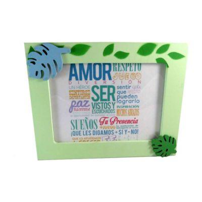 Portaretrato Aplique Verde 13x18 cm
