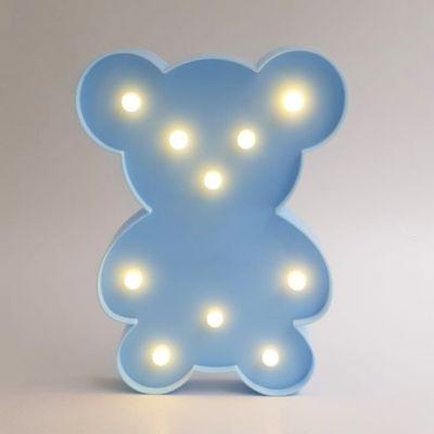 Lámpara De Mesa Decorativa Oso Azul