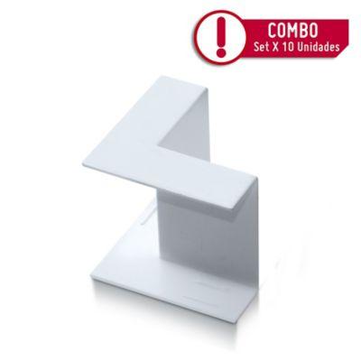 Accesorio Canaleta 40X16cm Ángulo Interno | Paquete X 10