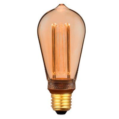 Bombillo Retro Pera 3.5w Dimerizable  Ambar Luz Amarilla