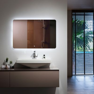 Espejo De Baño L.Ang Con Luz Led Y Desempañarte 120x80 Centímetros
