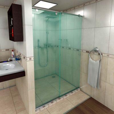 División para Baño Econo Corrediza 100 x 190 cm  Vidrio 8 mm