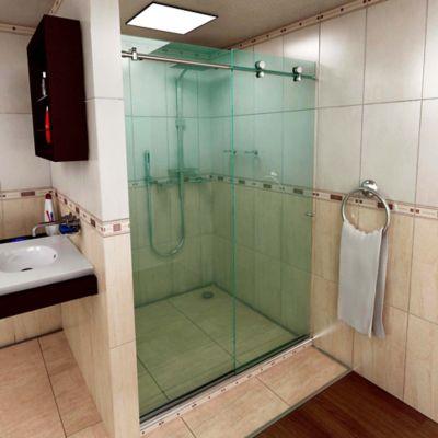 División para Baño Corrediza Ideal 100 x 190 cm  Vidrio 6 mm