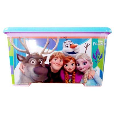 Caja Tapa Broche Con Ruedas Frozen 25x34x35 cm 28 Lt