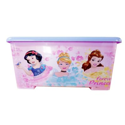 Caja Tapa Broche Con Ruedas Princesas 25x34x35 cm 28 Lt