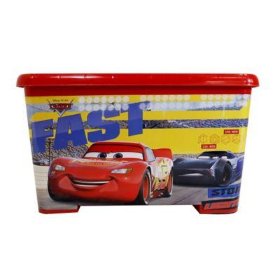 Caja Tapa Broche Con Ruedas Cars 25x34x35 cm 28 Lt