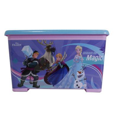 Caja Tapa Broche Con Ruedas Frozen 35x30x55 cm 46 Lt