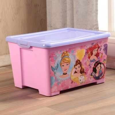 Caja Tapa Broche Con Ruedas Princesas 35x30x55 cm 46 Lt