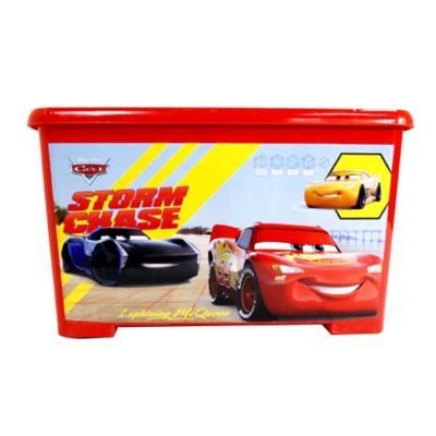 Caja Tapa Broche Con Ruedas Cars 35x30x55 cm 46 Lt