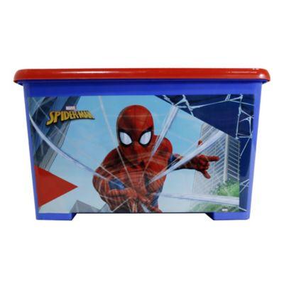 Caja Tapa Broche Con Ruedas Spiderman 35x30x55 cm 46 Lt