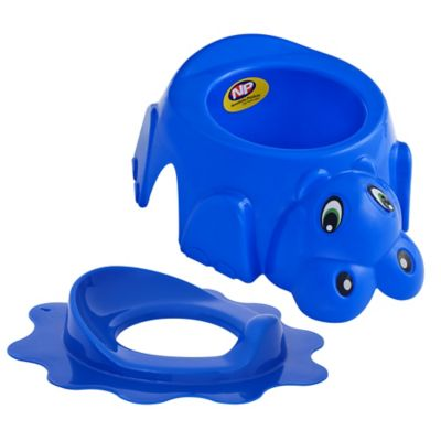 Combo Bacinilla Poty Azul + Asiento Reductor