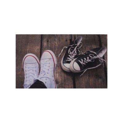 Tapete Entrada Zapatos Converse 45X75 Cm