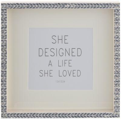 Portaretrato Estilo Block 12x12 cm