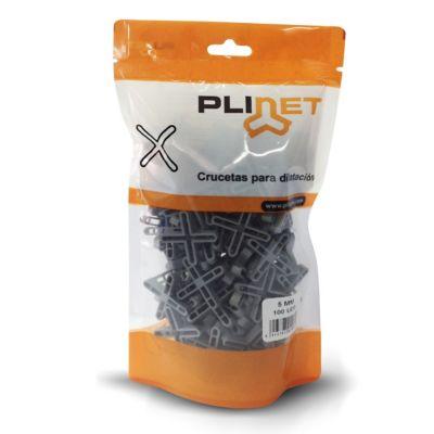 Cruceta Plástica Juntas 5mm x 100Und Plinet