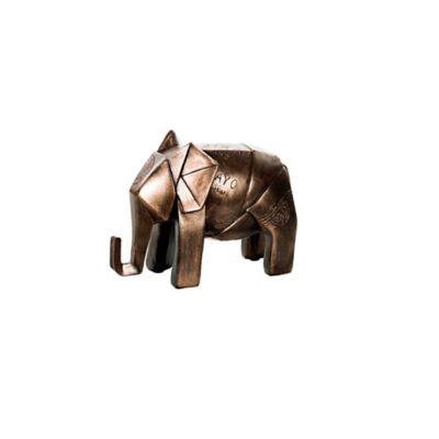 Escultura Elefante 14 cm Cobre Arabia