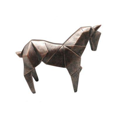 Escultura Caballo 23 cm Cobre Arabia