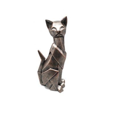 Escultura Gato 26,4 cm Cobre Arabia