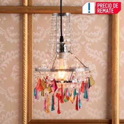 Lámpara Colgante 1 Luz E27 Cristal Color