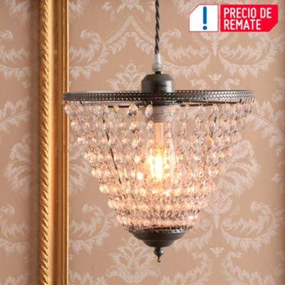 Lámpara Colgante Copa 1 Luz E27 Cristal Cromo
