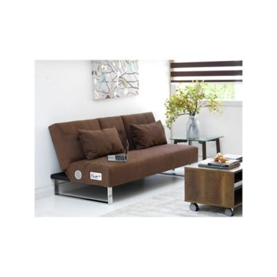 Sofacama Cannes con Speak 180x80x80cm Chocolate