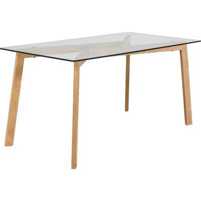 Mesa para Comedor Nórdica de Vidrio 150x80x76cm