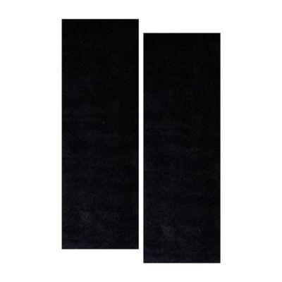 Set x 2 Tapetes Camino Shaggy 61 x 21 cm Negro