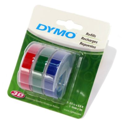 Cinta Relieve Color 9mmx3mt Blister Dymo Vinilo Caja X 3 Unidades