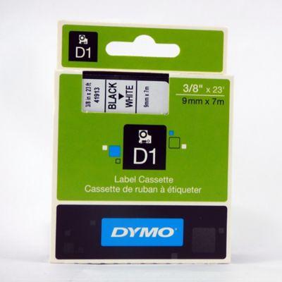 Cinta Rotuladora D1 Blanca 9mmx7mt Dymo Plástico
