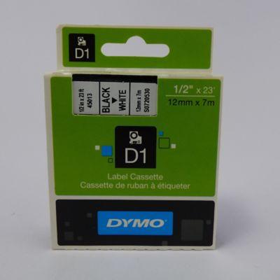 Cinta Rotuladora D1 Blanca 12mmx7mt Dymo Plástico
