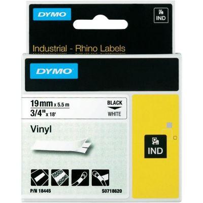 Cinta Rotuladora Industrial Blanca 19mmx5.5mt Dymo Vinilo