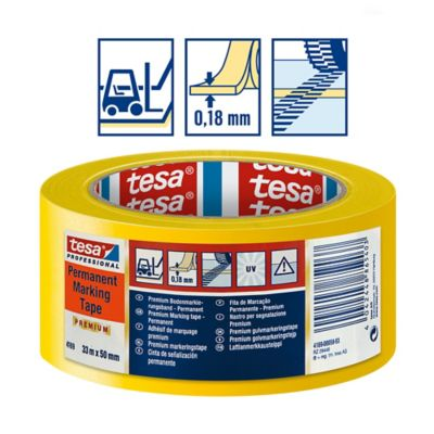 Cinta De Marcación Permanente Amarilla Tesaflex 4169 de 33mtx50mm Caja X 12 Rollos