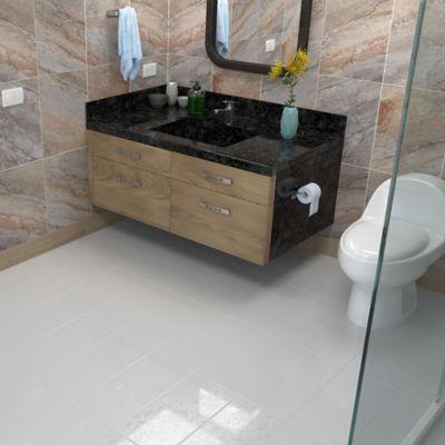 Piso Pared Cerámica Miami Blanco 24.5x50cm caja 1.96 m2