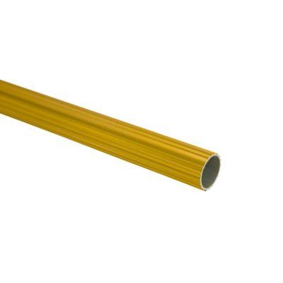 Tubo Ranurado 19 mm x 150 cm Dorado