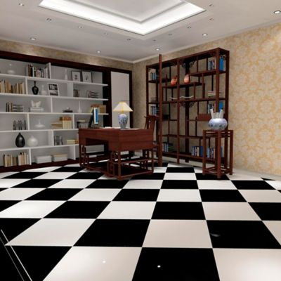Piso Porcelanato Súper Negro 80x80 cm caja 1.92 m2