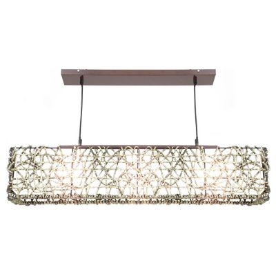 Lámpara Ara Colgante Rectangular 3 luces E27 Café