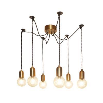 Lámpara Ara Colgante Lite 6 luces E14 Gold