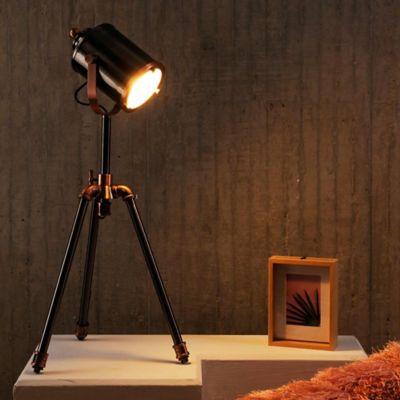 Lámpara Ara De Pie Isaac 1 Luz E27 Plomo