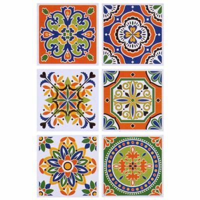 Sticker Azulejo Naranja