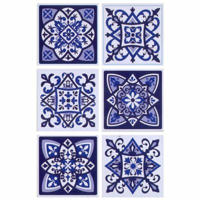 Sticker Azulejo Azul