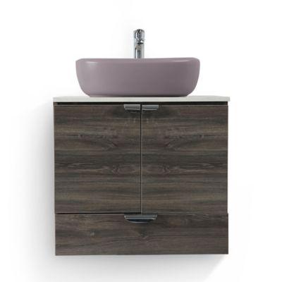 Mueble de baño Cascade Wengue con lavamanos Vessel palo de rosa