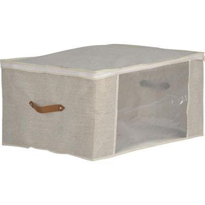 Bolsa Organizadora En Tela Con Cierre 60x30x45 cm Beige