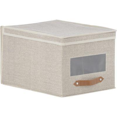 Caja Organizadora Tela 30x25x40 cm Beige