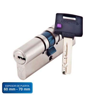 Cilindro de Alta Seguridad 80mm 5 Llaves Color Niquel Satin Classic Pro