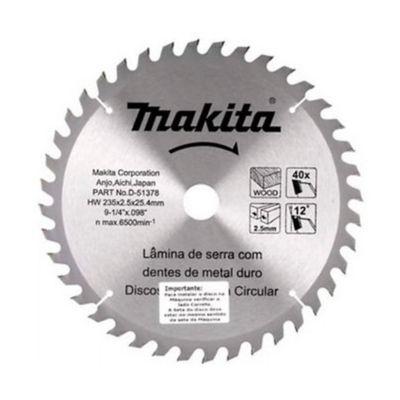 Disco Sierra Madera 9-1/4-pulg 40 Dientes