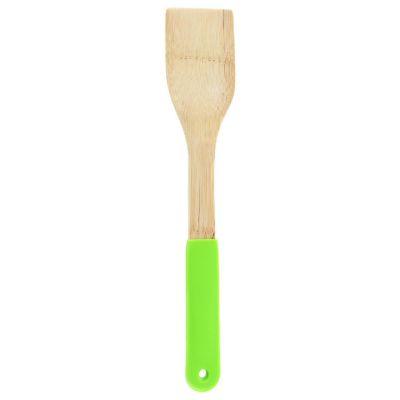 Espátula Recta Bamboo Mango Silicona Ver