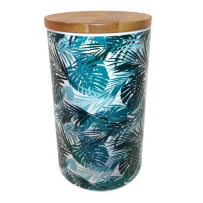 Canister bamboo cerámica 31 oz