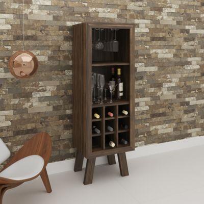Mueble para Bar Barcelona 44.8x135x37.5cm Nogal