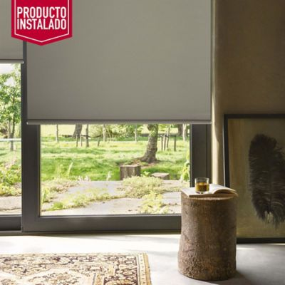 Blackout Enrollable Absolut Beige A La Medida Ancho Entre 60-100  Cm Alto Entre  100.5-135 Cm