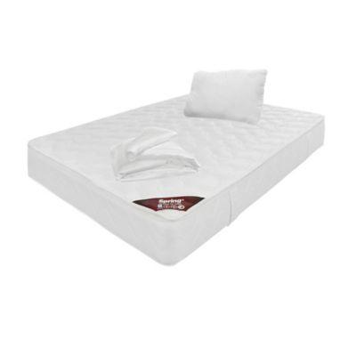 Colchon Sencillo Pillow Top 100x190 cm + Almohada + Protector